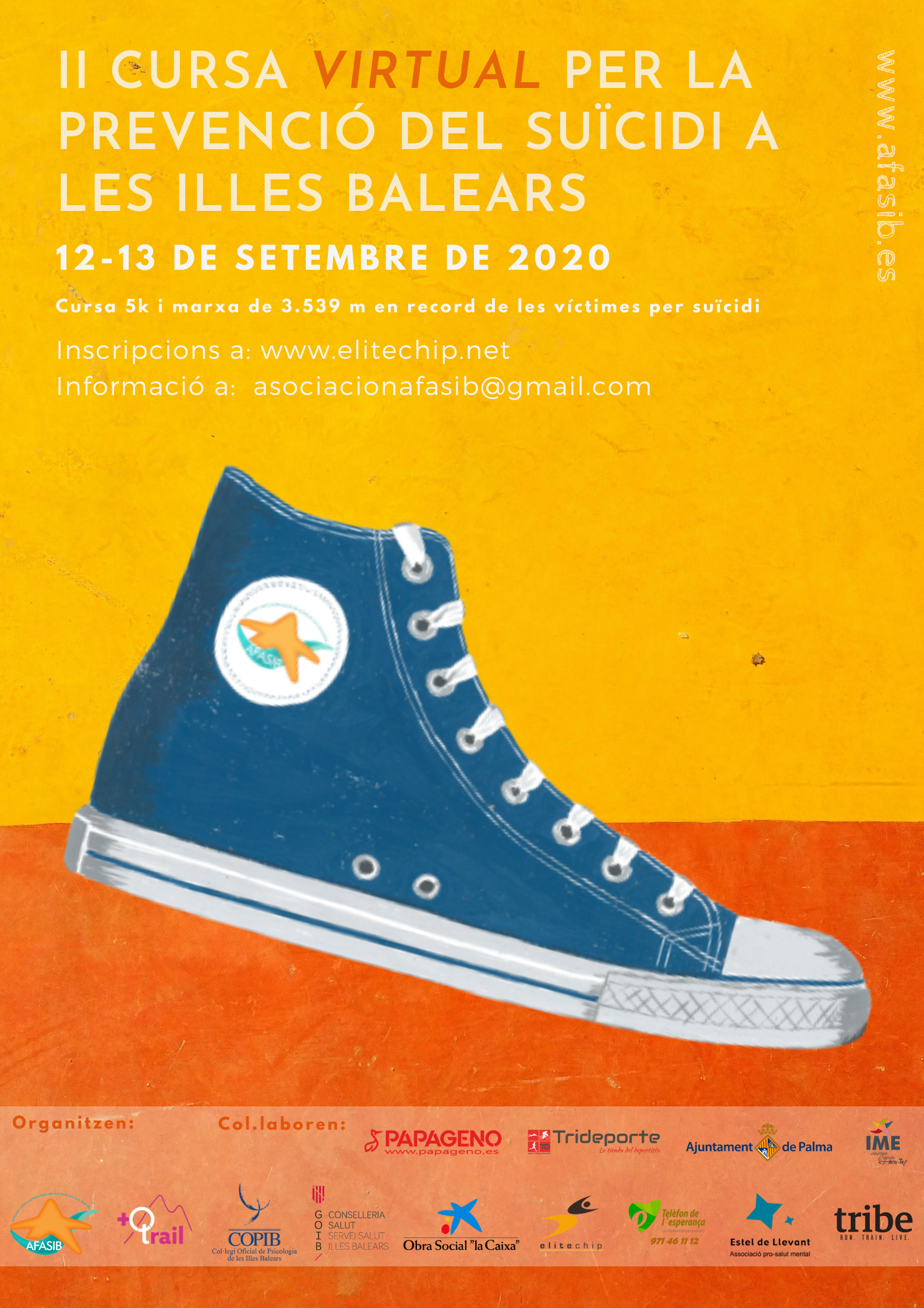 II Cursa virtual per a la prevenció del suïcidi de les Illes Balears