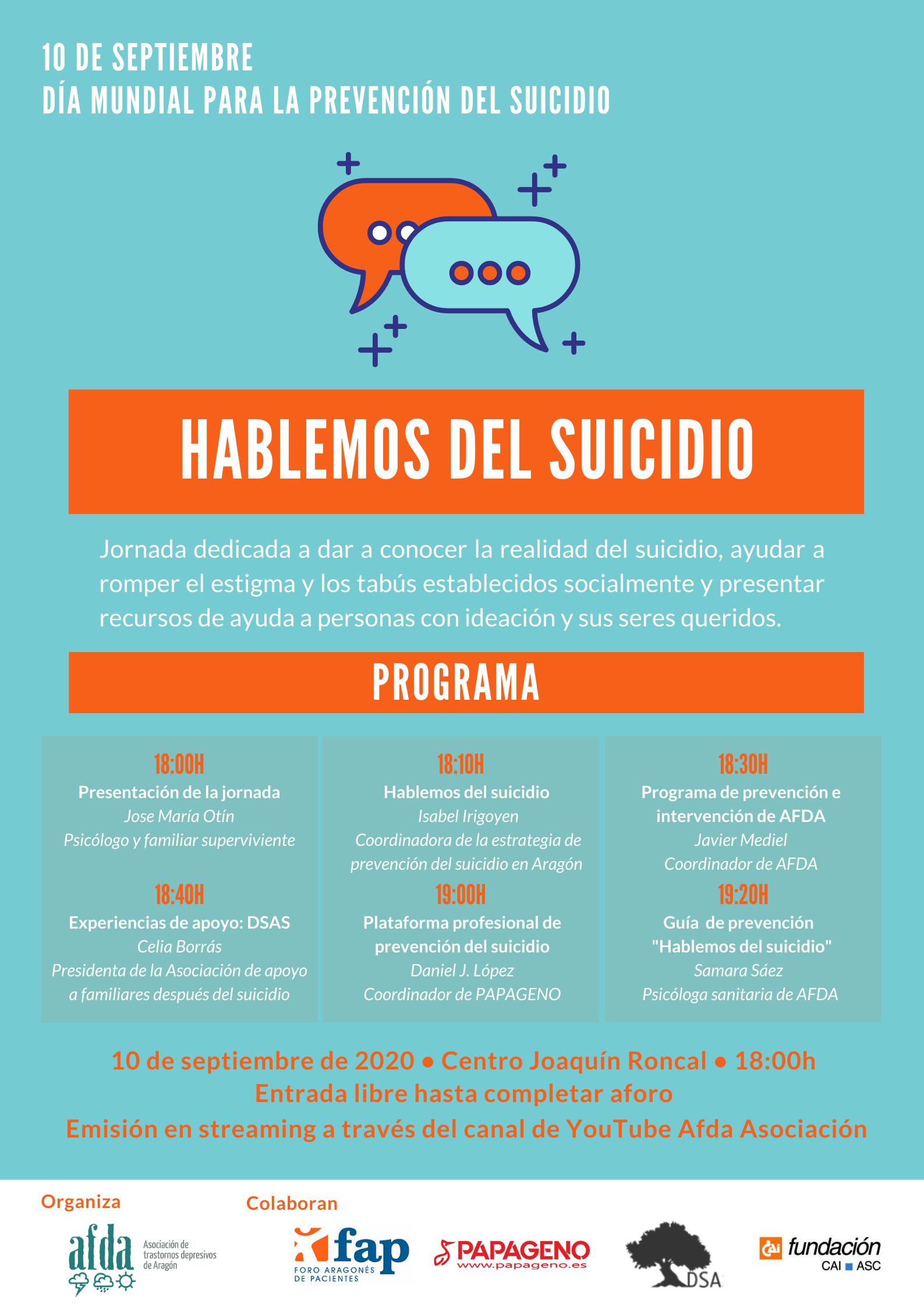 Jornada Hablemos del Suicidio AFDA
